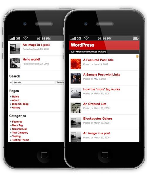 11款免费移动版WordPress主题 9