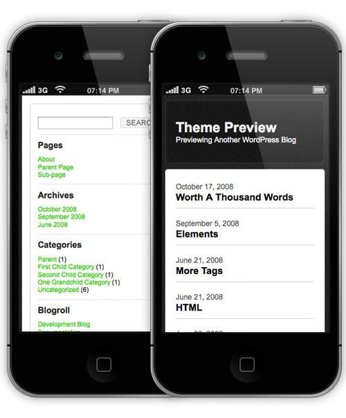 11款免费移动版WordPress主题 11