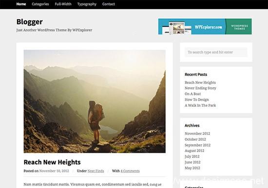100款免费WordPress主题 33