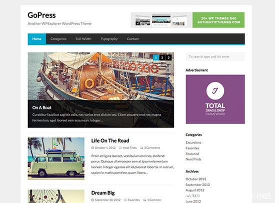 100款免费WordPress主题 35