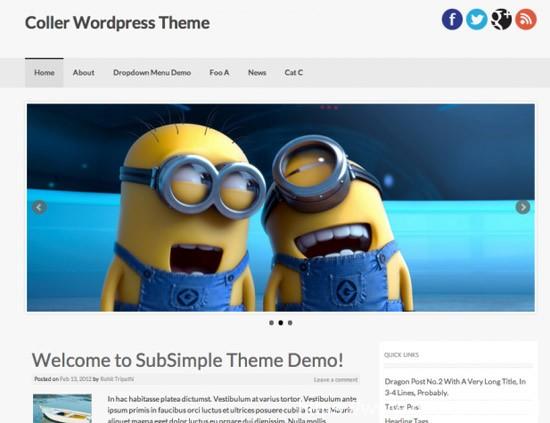 100款免费WordPress主题 50