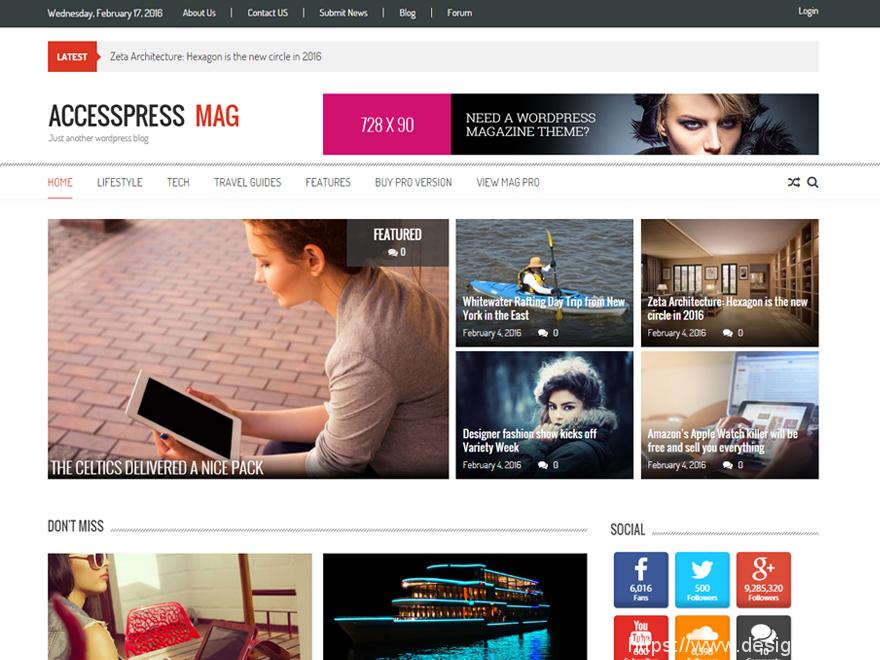免费WordPress杂志主题 6