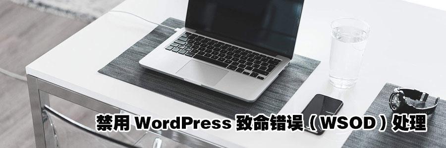 禁用WordPress致命错误(WSOD)处理 1